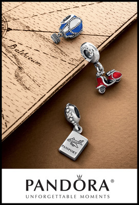 Celebrate a Summer of Adventure with New Travel-Inspired Charms from PANDORA Jewelry.  (PRNewsFoto/PANDORA Jewelry)