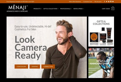 MENAJI Advanced Men's Skincare Launches New Website