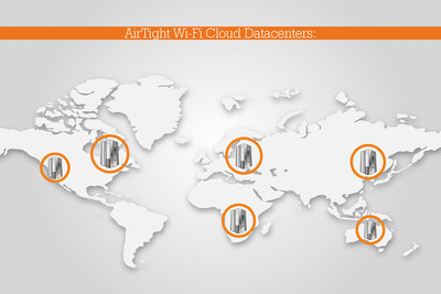 AirTight Wi-Fi Provides World's Largest Cloud Footprint; Six Globally Deployed Secure Datacenters Offer Massively Scalable Architecture. AirTight Positions Its Cloud Services to Handle the Growing Needs of Enterprise Customers. AirTight Networks, the leading provider of secure Wi-Fi Solutions, has constructed the world's largest cloud footprint available today with tens of thousands of Wi-Fi networks attached to the AirTight Cloud, Cloud managed wireless networks eliminate the cost and complexity of managing distributed Wi-Fi networks. AirTight provides its customers with carrier class scalability to meet their current and future needs.  (PRNewsFoto/AirTight Networks)