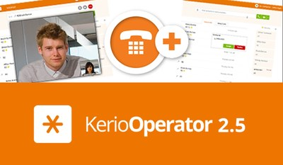 Kerio Operator 2.5 makes it easier to make & receive voice & video calls with improved performance & call quality (PRNewsFoto/Kerio Technologies)