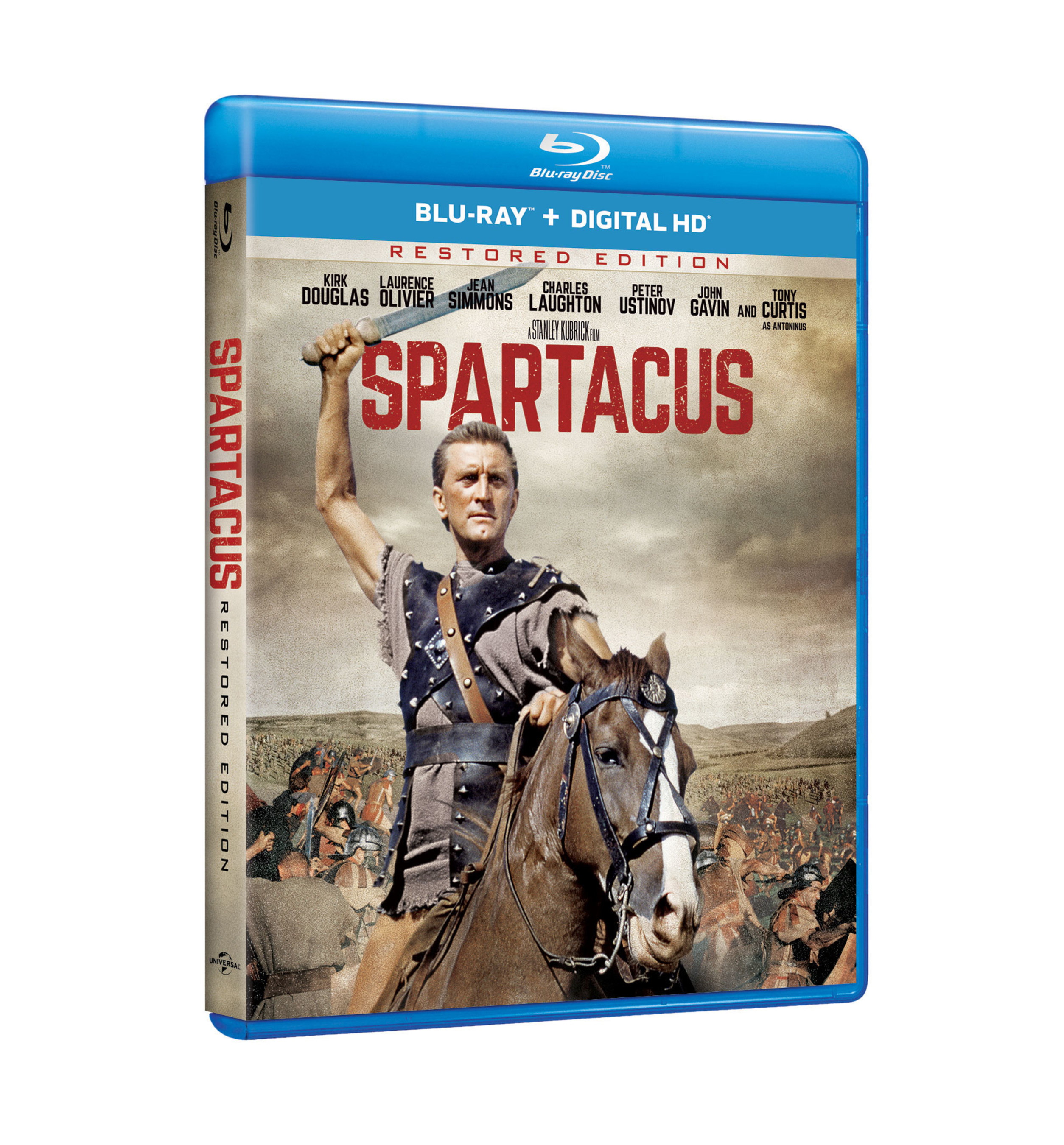 From Universal Pictures Home Entertainment: SPARTACUS: RESTORED EDITION