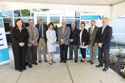 VWR leadership with Susan Drucker, Mayor of Solon (fourth from the left), celebrate the opening of VWR's chemical manufacturing site in Solon, Ohio.