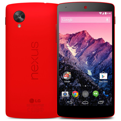 The first red Nexus 5 device is now available on Google Play(tm). (PRNewsFoto/LG Electronics)