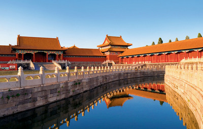 A highlight of Crystal Cruises' three-night complimentary Beijing shore excursion is a trip to the Last Emperor's Forbidden City, in addition to the Temple of Heaven, the Great Wall of China, Olympic Park, and more.  (PRNewsFoto/Crystal Cruises)