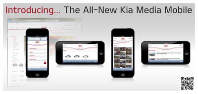 Kia Motors America Launches Mobile Version of Kiamedia.com.  (PRNewsFoto/Kia Motors America)