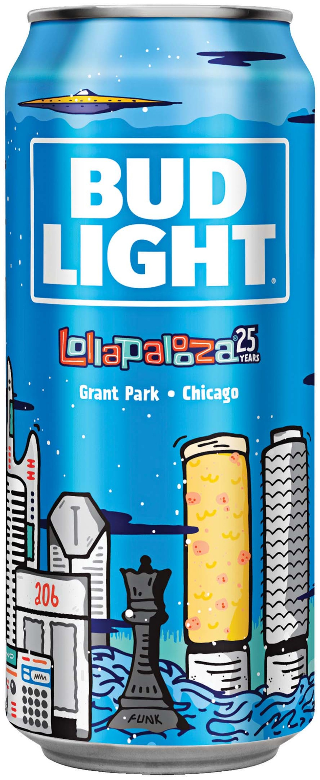Bud Light Lollapalooza Limited Edition 2016 Can
