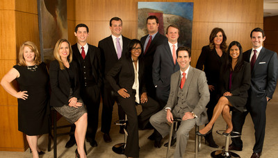 Eleven attorneys from Godwin Lewis PC have been selected to the 2014 Texas Rising Stars list. They are, from left, Misty H. Cone, Laci S. Bowman, Israel R. Silvas, Lon M. Loveless, Stefanie Major McGregor, Christopher B. Wood, Adam P. Curley, W. Ira Bowman, Joni J. Ogle, Pia T. Das, and Colby S. Hodges.  (PRNewsFoto/Godwin Lewis PC)