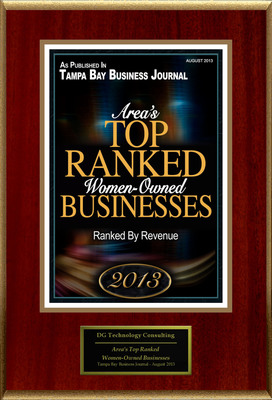 "DG Technology Consulting Selected For ""Area's Top Ranked Women-Owned Businesses"""