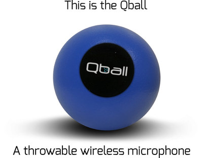 Qball - the wireless microphone you can pass, drop, throw and roll!  Transform your classroom, presentation or boardroom into an interactive, engaging experience. Now available in Indiegogo starting at $100