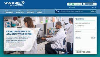 VWR's New Website Redesign Provides Improved Functionality for Customers
