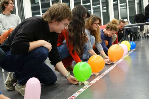 One of the key projects on the course is the customization and building of a balloon-powered 3D printed car model. Photo credit: ETH Zurich (PRNewsFoto/Stratasys)