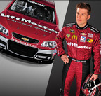 LiftMaster has launched an exciting Facebook contest for the chance to win instant daily prizes and a grand prize, all-expense paid VIP Race Trip Weekend to the Bank of America 500 at Charlotte Motor Speedway. For every participant to like LiftMaster and enter the Facebook contest, LiftMaster will donate one dollar to the National Fallen Firefighters Foundation. NASCAR driver Jamie McMurray will present the LiftMaster donation to the National Fallen Firefighers Foundation when he drives the LiftMaster #1 Chevy car on October 12. Enter the contest here https://liftmaster.promo.eprize.com/sweeps/.  (PRNewsFoto/LiftMaster)
