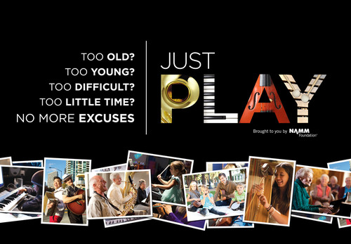 Just Play: New NAMM Foundation PSA Campaign Unveiled at 2013 NAMM Show.  (PRNewsFoto/National Association of ...