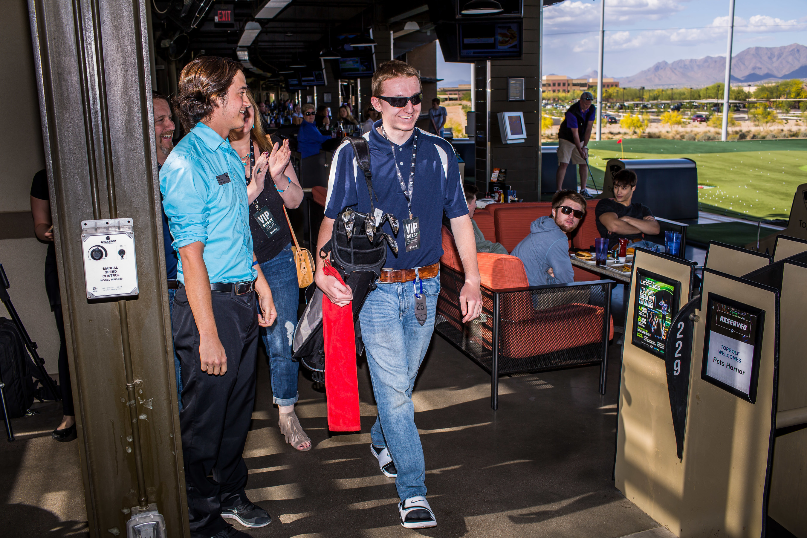 Topgolf helps celebrate a wish for Pete with Make-A-Wish