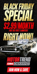 Motor Trend OnDemand Black Friday Special starts right now at $2.99/month for the first three months