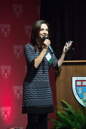 Susan Cain discusses the Quiet Revolution at HLS.  (PRNewsFoto/Broadway Books, Martha Stewart)