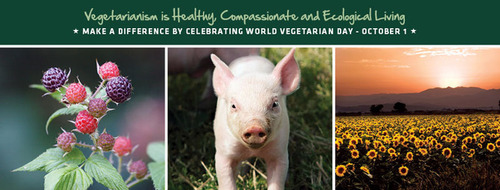 Try going meat-free and you could win up to $1,000! WorldVegetarianDay.org.  (PRNewsFoto/North American Vegetarian Society)