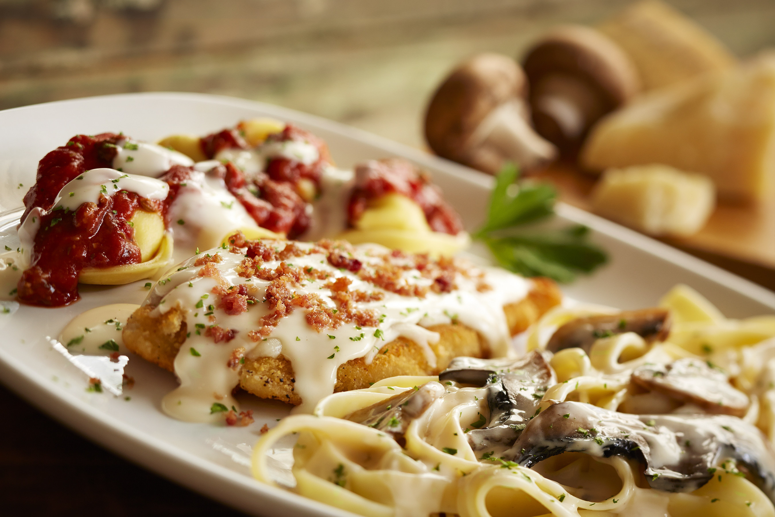 Olive garden introduces two new twists on its classic tour for Cuisine garden