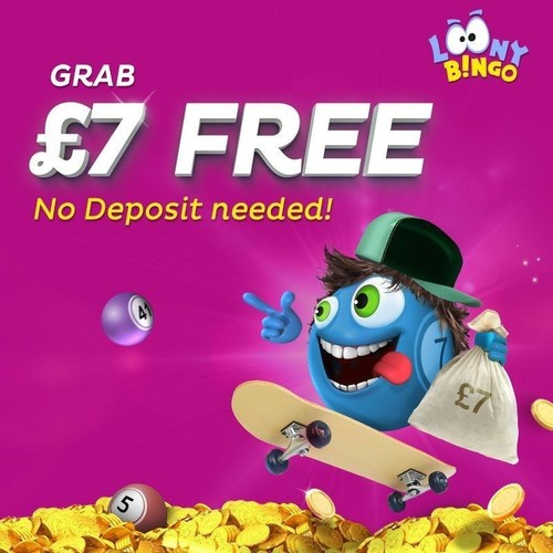 Loony Bingo's new welcome offer gives away GBP7 free to new players - no deposit required! (PRNewsFoto/Loony Bingo)