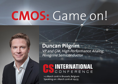 Peregrine Semiconductor's VP and GM, Duncan Pilgrim, will speak at the Compound Semiconductor International Conference in Brussels, Belgium.