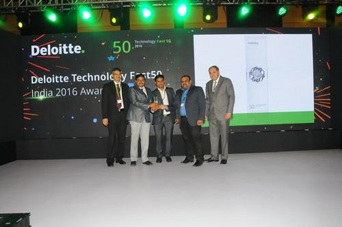 Deloitte Technology Fast 50 india 2016 Winner (PRNewsFoto/FuGenX Technologies Pvt Ltd)