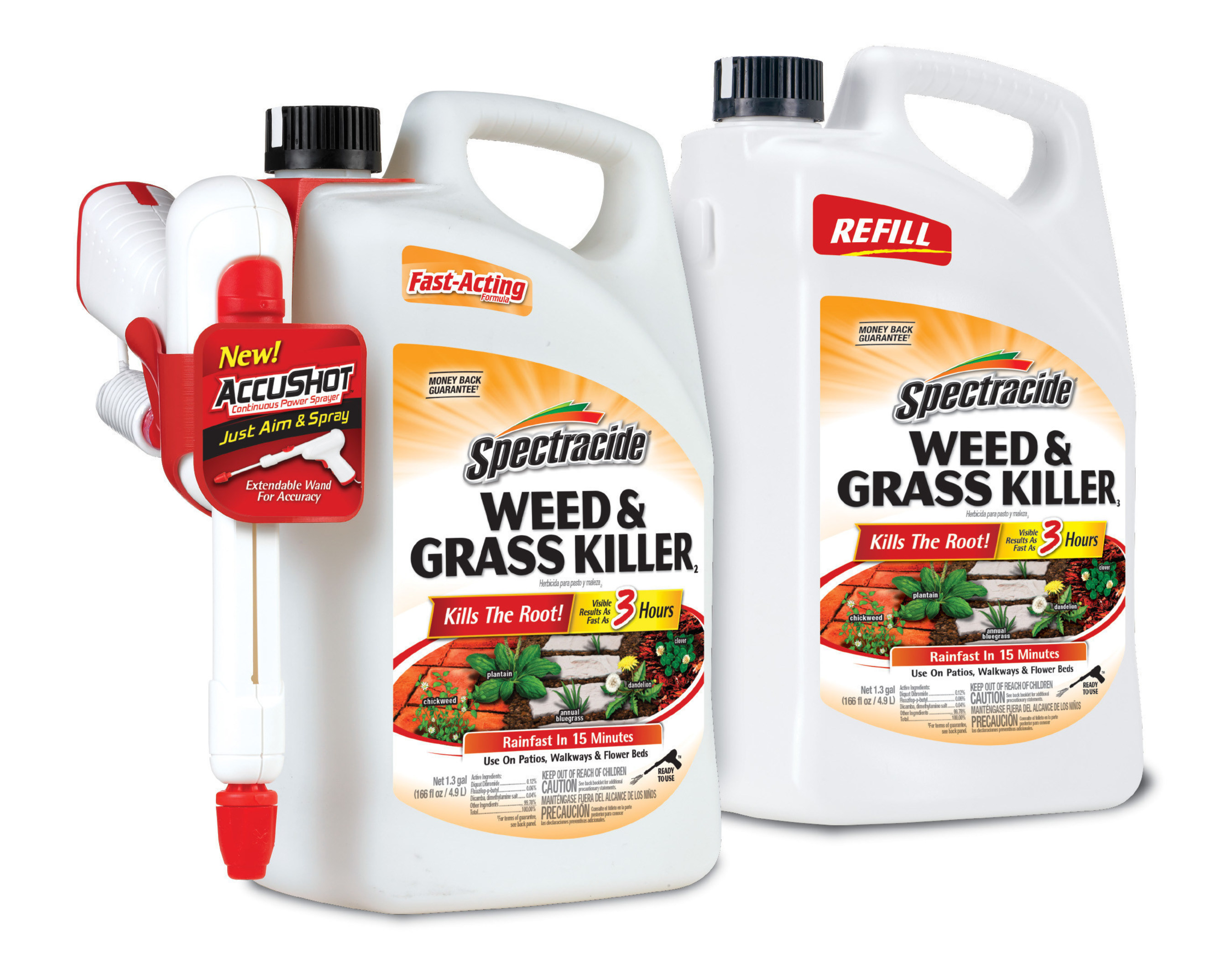 Spectracide AccuShot Weed & Grass Killer Ready-to-Use.
