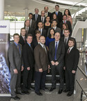 During an awards banquet, BorgWarner President and Chief Executive Officer James Verrier (first row, fourth from left) personally presented the BorgWarner Innovation Excellence Award to 21 employees. (PRNewsFoto/BorgWarner Inc.)