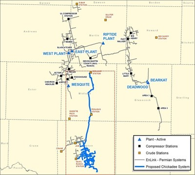 EnLink's Greater Chickadee crude oil gathering project represents the next step in the development of an integrated crude platform in the Permian Basin by leveraging EnLink's existing footprint to expand and grow crude oil service offerings.