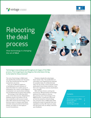 """""""How technology is changing the art of M&A"""" whitepaper is free to download."""