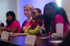 Plan's delegation of girls from around the world speak at the CSW. (PRNewsFoto/Plan International USA, Bartram Nason)