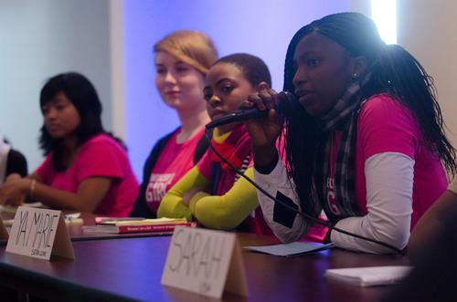 Plan's delegation of girls from around the world speak at the CSW. (PRNewsFoto/Plan International USA, Bartram Nason)