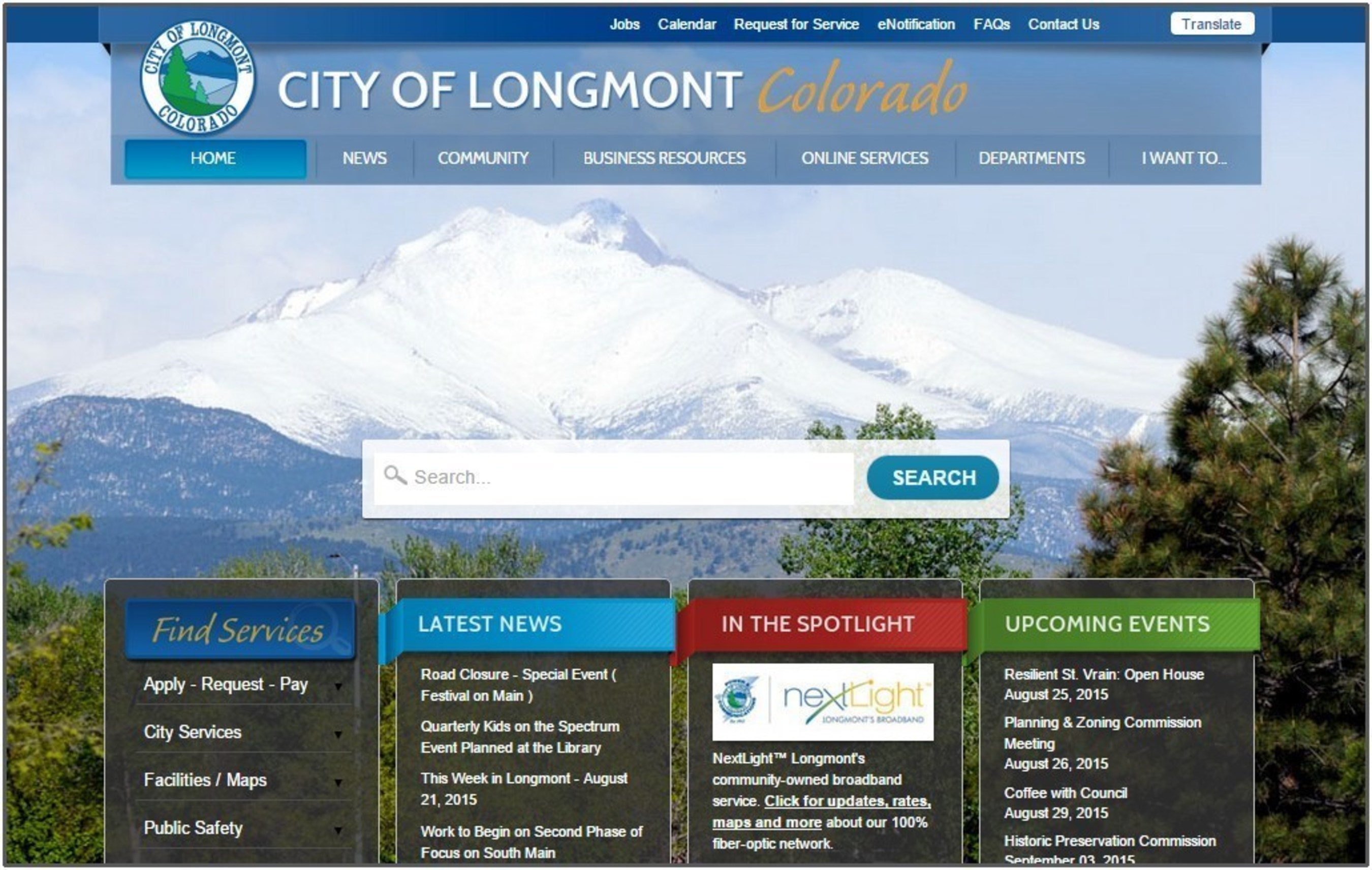 One Year After Website Overhaul, City of Longmont Reports Increase in Visitors