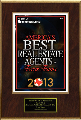"""Brian Weast Selected For """"America's Best Real Estate Agents 2013 - Texas Teams"""". (PRNewsFoto/American Registry) (PRNewsFoto/AMERICAN REGISTRY)"""