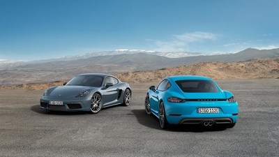 The new 2017 Porsche 718 Cayman and 718 Cayman S