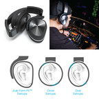 JLab Audio has released a revolutionary new design for studio-style headphones - the Flex Headphones - featuring Form-Fit(TM) Earcups ergonomically shaped to the natural outline of the ear that twist and swivel to the whims of DJs, gamers and audiophiles. With a perfectly molded stainless steel metal headband lined with an ultra-plush 1/2-inch wide Cloud Foam(TM) cushion these headphones can be worn non-stop for hours and hours. The inside of the earcups are molded impeccably to the ear...