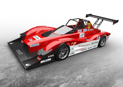 Mitsubishi Motors North America, Inc. (MMNA) will compete in the Electric Modified Division of the 2014 Pikes Peak International Hill Climb (PPIHC) with a pair of technologically-advanced MiEV Evolution III 100% electric-powered purpose-built racecars. (PRNewsFoto/Mitsubishi Motor Sales America) (PRNewsFoto/Mitsubishi Motor Sales America)