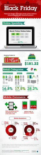 IBM Benchmark - Black Friday 2012 Online Sales.  (PRNewsFoto/IBM Corporation)