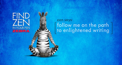 Zebra Pen unveils new campaign called, Find Zen in Your Pen.