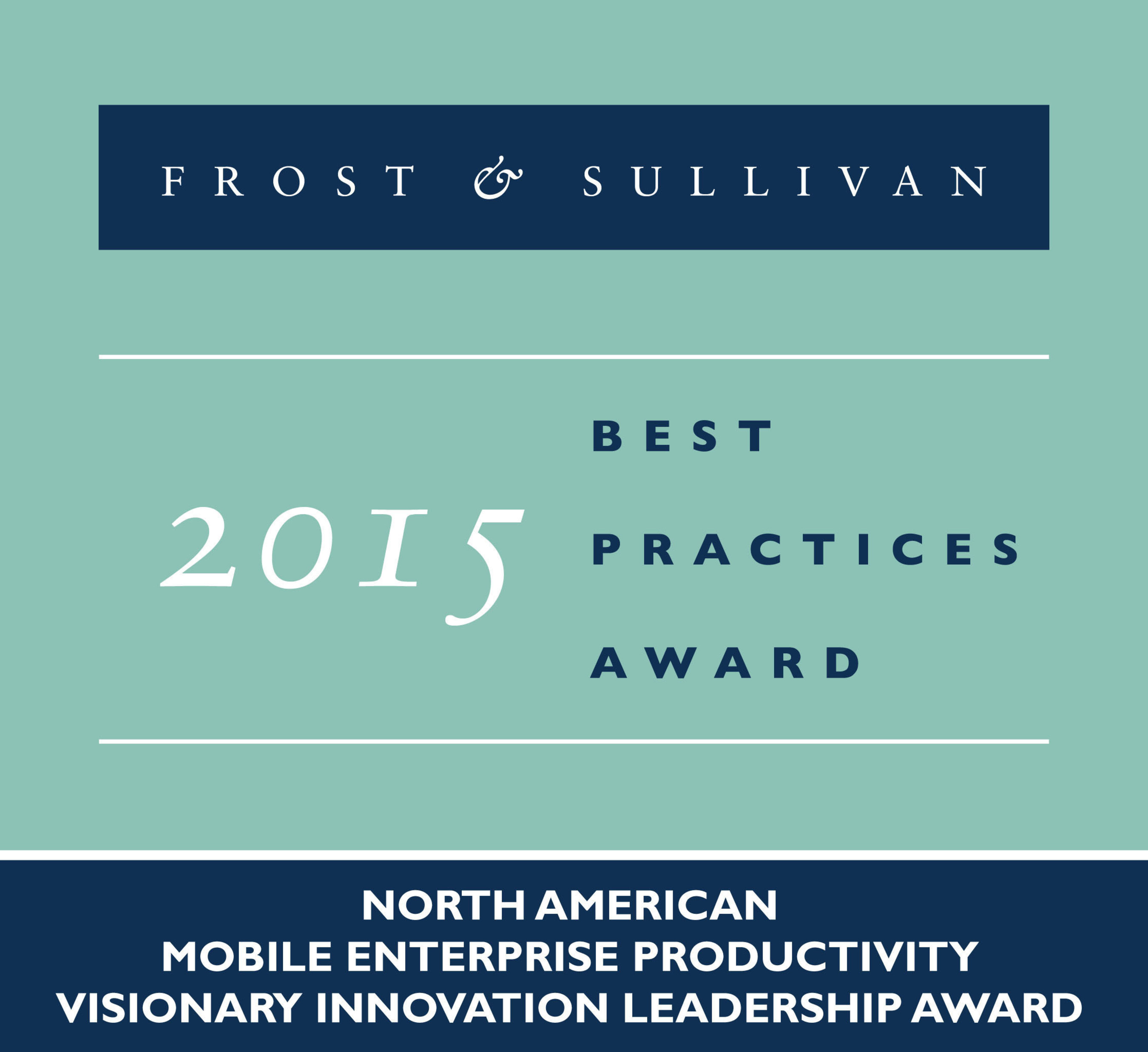 Google Earns Top Honors from Frost & Sullivan for its Vision in Developing Innovative 'for Work'