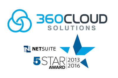 360 Cloud Solutions, 5-Star NetSuite Solution Provider 2016