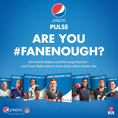 Pepsi Pulse iTunes Radio Are You #FanEnough NFL Station Home Page