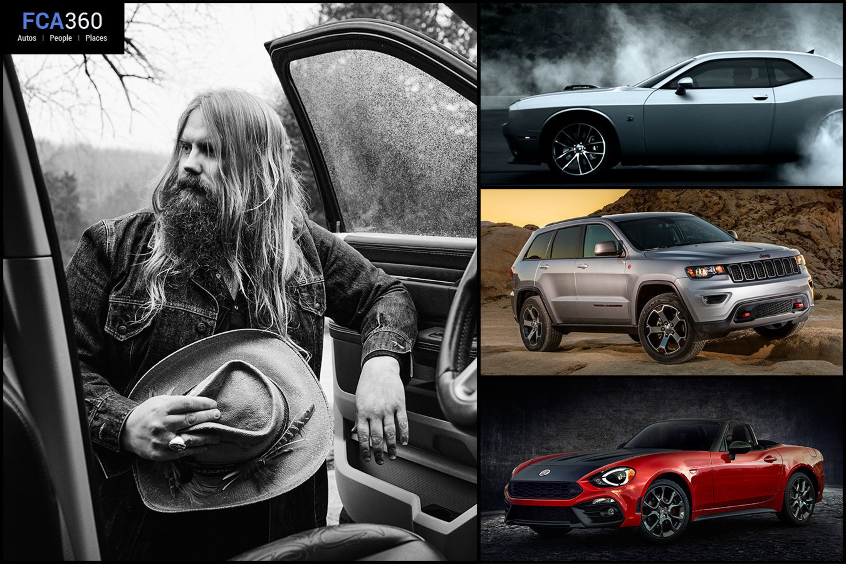 Check out the April issue of FCA360 for an inside look into FCA US LLC. This month's edition includes the story of country music singer Chris Stapleton's  journey home to Paintsville, Ky.,  in a Ram Truck; how fans of the Dodge brand are fueling its social media success, and product reveals of the 2017 Jeep(R) Grand Cherokee Trailhawk, Summit and Fiat 124 Spider Abarth.