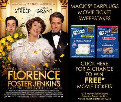 "YOU could WIN TICKETS to see the new movie ""FLORENCE FOSTER JENKINS"" in U.S. theaters August 12."