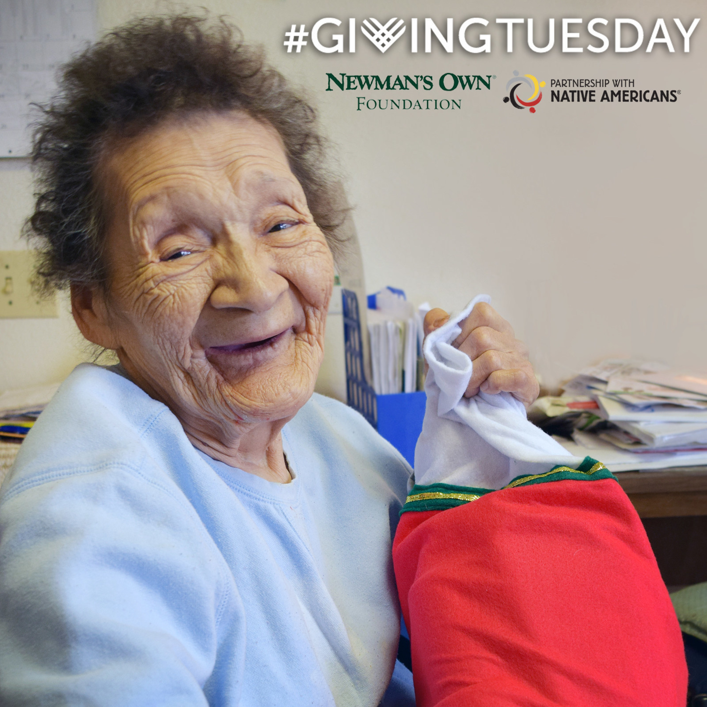 PWNA can earn up to $10,000 in matching funds for donations made through Nov. 29, as part of the Newman's Own Foundation Challenge for Giving Tuesday. PWNA supports nutritious, hot meals for Elders on remote, geographically isolated and impoverished reservations, as well as holiday services.