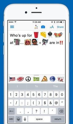 Launched in celebration of World Emoji Day, Sunday, July 17, buzzMSG is the first App that creates custom intext emoji.