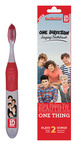 "Brush Buddies One Direction Singing Toothbrush plays ""What Makes You Beautiful"" and ""One Thing"" for the dentist recommended two minutes for each song.  Other Brush Buddies artists include Justin Bieber, Lady Gaga, and LMFAO. Make brushing fun!.  (PRNewsFoto/Brush Buddies)"