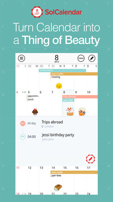 "One of The Most Beautiful Calendar Apps for Android ""SolCalendar"", thriving around the globe.  (PRNewsFoto/Daum Communications)"
