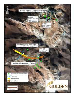 Golden Minerals Reports Possible Extensions Of Mineralized Zones At El Quevar, Salta, Argentina.  (PRNewsFoto/Golden Minerals Company)