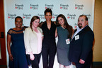 "Actress Halle Berry, who plays a 9-1-1 call taker in the new film ""The Call,"" with Los Angeles Police Department 9-1-1 personnel who helped her prepare for the role (L to R):  Liz Montgomery, Maria Moreno, Berry, Yolanda Arroyo, and Gilbert Najar.  Photo courtesy of Sony Pictures Entertainment Inc.  (PRNewsFoto/NENA)"