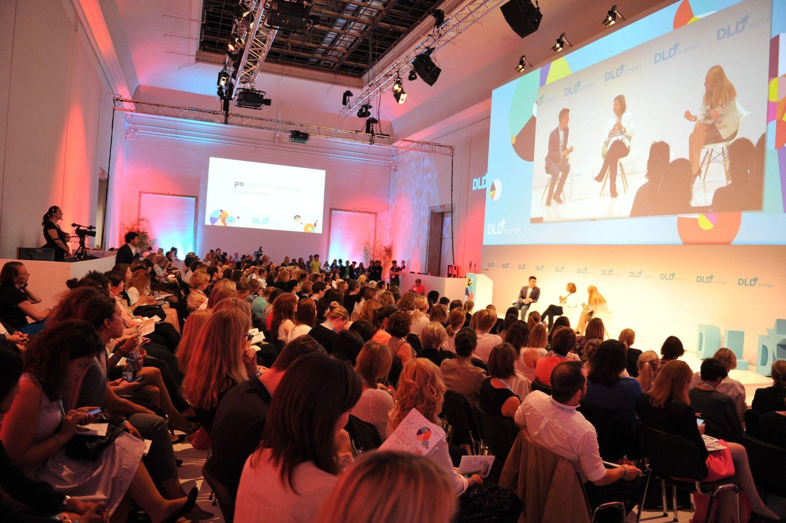 DLD Women 2014 Conference Day at Haus der Kunst in Munich (PRNewsFoto/Hubert Burda Media)